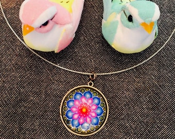 Necklace with a MANDALA pendant from Barcelona the city of GAUDI