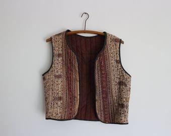 Sleeveless vest, vintage fabric