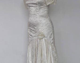 """A Vintage Dress - """"Julia"""" 1980's Vintage Full Length Bridal Gown."""