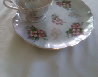 Royal Ainsley 1750 plate with tea cup