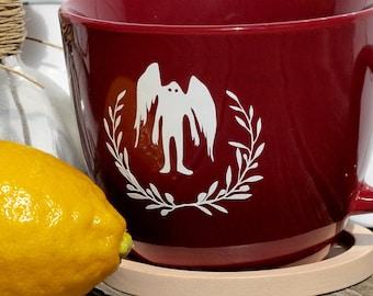 Beautiful Mothman - Elegant Cryptozoology Coffee Mug