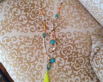 Ethno-chic ibiza style necklace