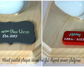 Custom Personalized Hand Painted Wooden Plaque for Urn Display