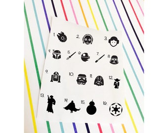 Star Wars Magic Band Decal Sticker || Star Wars Decals || Laptop, or Car! Leia, BB8, Darth Star Wars Decals Magic Band ||