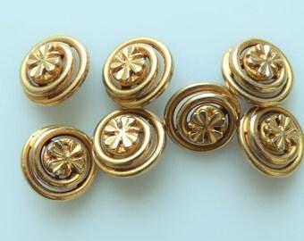 Chanel Vintage Clover Shamrock Buttons 16mm