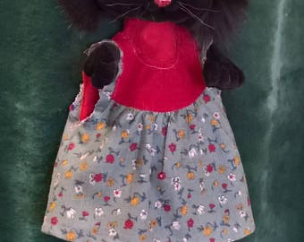 hand puppet lady cat, puppet theater,