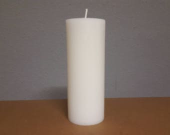 White candle in Landhausstyle approx. 220 x 74 mm / rustic look