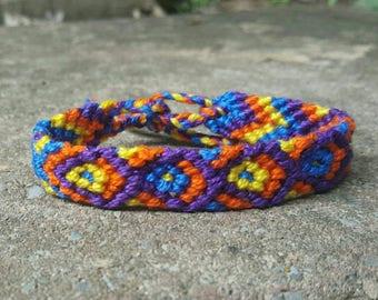 Vibrant macrame bracelet