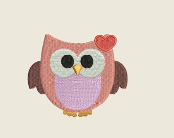 Owl embroidery - Animal embroidery - Owl embroidery design - Filled stitch embroidery - Machine embroidery - INSTANT DOWNLOAD