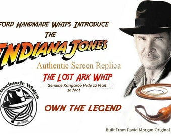 Indiana Jones Raiders Of The Lost Ark Authentic Reproduction 10 foot Bullwhip
