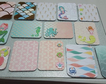 mermaid project life cards