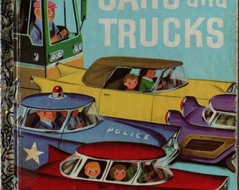 Cars and Trucks a Little Golden Book - Richard Scarry - 1978 - Vintage Kids Book