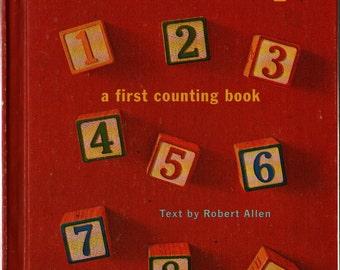 Numbers a First Counting Book - Robert Allen - Mottke Weissman - 1968 - Vintage Kids Book
