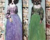 commission Micki High tall pet portraits on wood