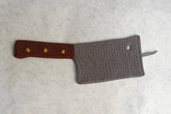 Crocheted Cleaver Applique/Ornament Pattern (Pattern Only)
