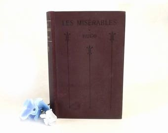 1922 Hugo Les Miserables Book in French, Abridged Edited by Victor Francois w/ Notes, Vocab and Exercises