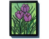Purple Crocus Painting - ...