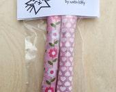 Catnip Cat Toy- Heart & Flower Print Catnip Kickers - Valentine's Day Cat Toy