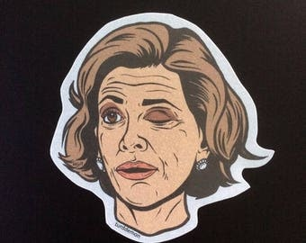 Lucille Bluth Winking Sticker