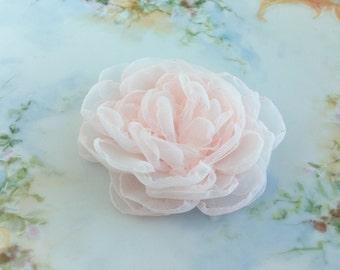 Blush Pink Flower Hair Clip,Blush Fascinator,Pale Pink Fascinator,Blush Brooch PIn,Bridal Headpiece,Wedding Hair Piece,hair accessory