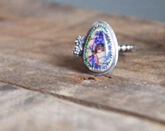 Monarch Opal Succulent Ring / Modern Jewelry