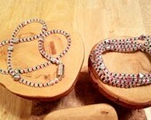 CUSTOM ORDER for Etsian hegman 16 inch North Pole Christmas holiday necklace and 7 inch matching bracelets