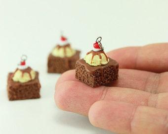 Hot Fudge Brownie Sundae Charm / Pendant