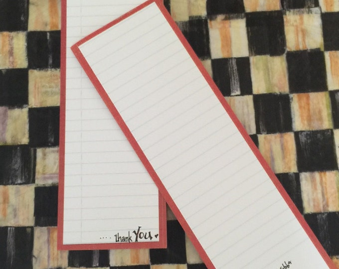 """For His Glory by Cindy Grubb- """"Jesus Bless this list...Thank You"""", List Style Note Pad, 2 sided lined, Inspirational, Faith, FREE BOOKMARK"""