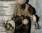 Folk Art, Primitive Handmade Spring Bunny... Harley The Hare