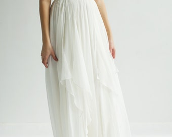 Sample Sale Ivory--Silk and Lace Gown--Sample Sale--Size 2