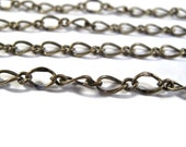 Antique Brass Fancy Curb Chain, Antique Brass Chain By the Foot, 7.5x5mm Chain for Making Jewelry (FS-cb/265/fab)
