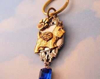 Scottie Dog Scottish Terrier ANGEL MEMORIAL KEYCHAIN. Scottish Terrier Sympathy Gift. Scotty Dog Remembrance Keepsake Gifts Women  Key Chain