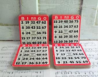 30 Vintage Cardboard Bingo Cards