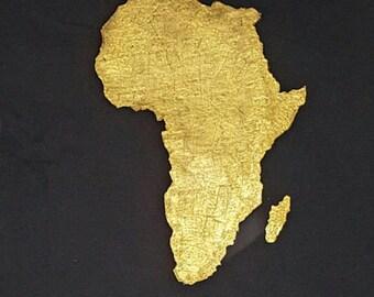 Africa T-shirt - GOLD JUMBO Africa