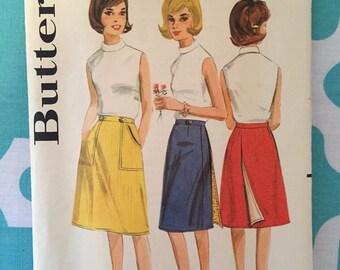 """Vintage 1960's Butterick #3145 Wrap Skirt Pattern Size 38, Waist 28"""" - OH - 1960s Butterick / 60s Butterick / 1960s Pattern / Wrap Skirt"""