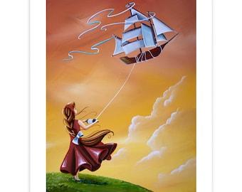 Dreamer Series Limited Edition - Full Sail - Signed 8x10 Semi Gloss Print (4/10)