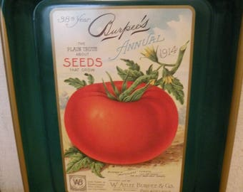 Vintage Burpee Seed Tomato Advertising Tray collector series No Scratches ECS RDT SVFTeam FVGTEAM
