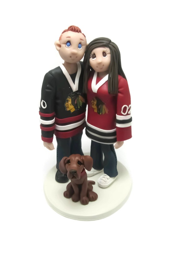 personalized wedding cake topper canada custom wedding cake topper hockey fans wedding cake topper 18280