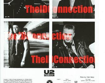 1988 U2 Rattle & Hum, Production Photograph, Bono and The Edge perform, Paramount Pictures Motion Picture, Larry Mullen Jr., Adam Clayton