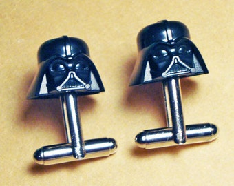 Groomsmen Gift, Wedding, Darth Vader Cuff Links, silver toned cufflinks, Star Wars, made with LEGO (R) Bricks