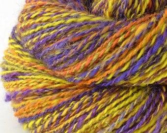 Handspun Yarn -  Hand Spun Merino Silk Bamboo Mohair Yarn - Art Yarn- 1.75oz, 200yd, 17WPI