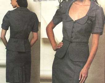 UNCUT Rebecca Taylor Skirt Suit Bust 36 - 42 Vogue V1169