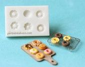 Dollhouse Miniature Donuts Mold - Silicone Mold