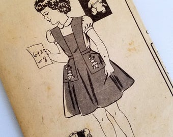 Vintage 1950s Girls Jumper Dress & Blouse Pattern Size 4 Chest 23 Progressive Farmer 2276 B Mail Order Pattern