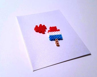 You're The Bomb - Perler Fuse Bead Greeting Card - Love Note - Birthday - Bomb Pop - Popsicle - Ice Cream - Summer