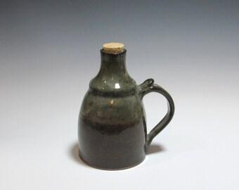 Ceramic bottle cork stopper - Pottery Oil bottle - oil dispenser - salad oil bottle - Decanter - oil cruet - sake jar - Bottle with stopper