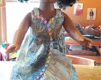 18'' doll outfit handmade sundress - american girl journey doll clothing