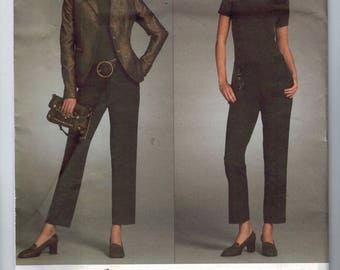 Misses Sewing Pattern Vogue V2986 2986 Michael Kors Misses and Petite Jacket Pants Suit Fitted Size 6 8 10 12 Bust 30 31 32 33 34 UNCUT