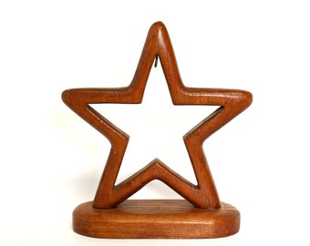 Wooden Star Stand