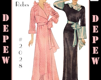 Vintage Sewing Pattern Reproduction 1930's Ladies' Robe #2028 - INSTANT DOWNLOAD